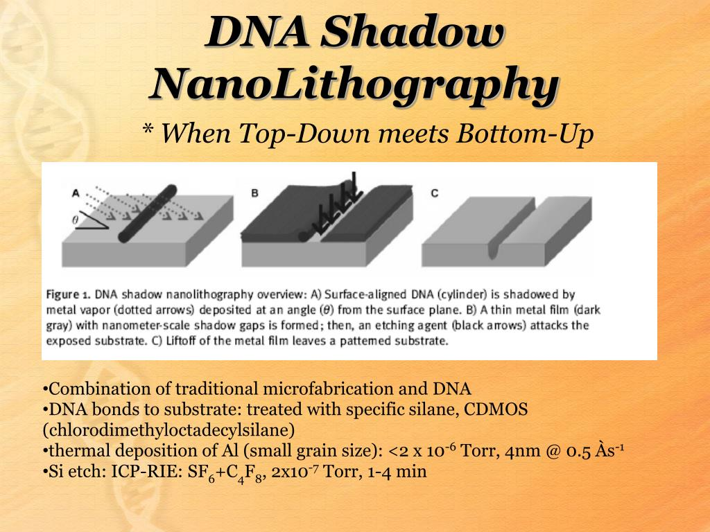 DNA Shadow NanoLithography