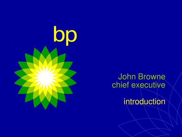 John browne chief executive introduction