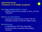 petrochemicals indicators of strategic progress