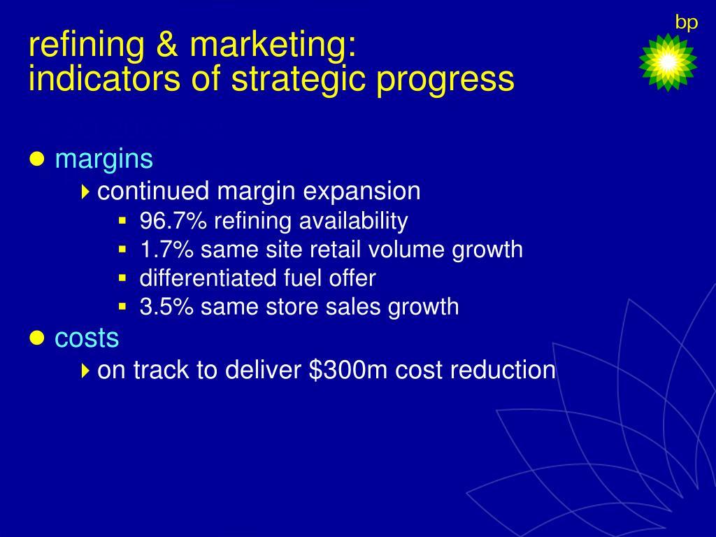 refining & marketing: