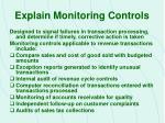 explain monitoring controls