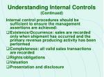 understanding internal controls continued