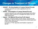 changes to treatment of fit outs