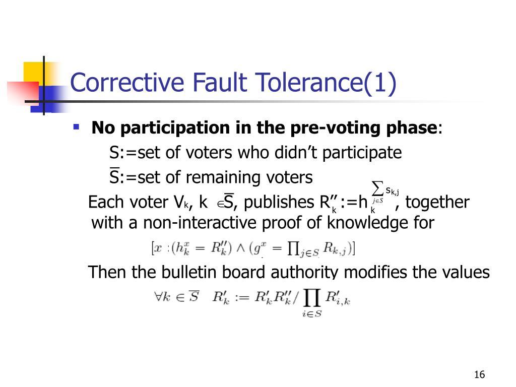 Corrective Fault Tolerance(1)