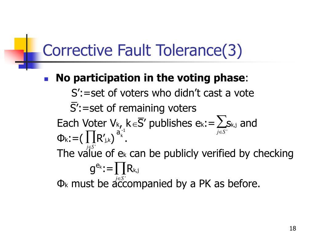Corrective Fault Tolerance(3)