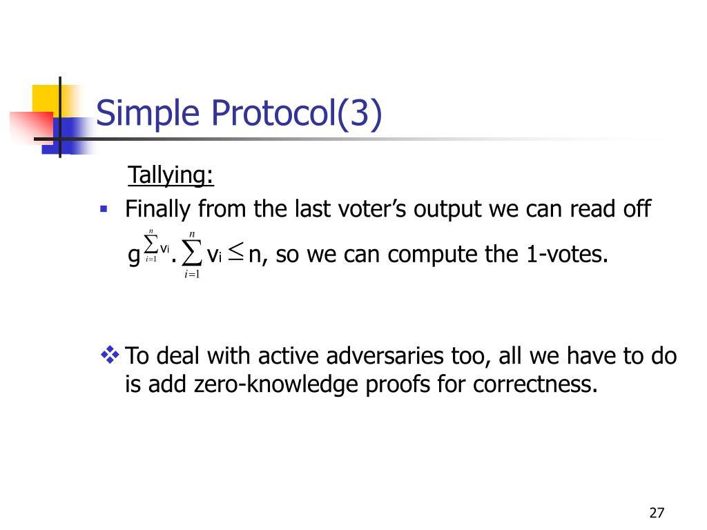Simple Protocol(3)