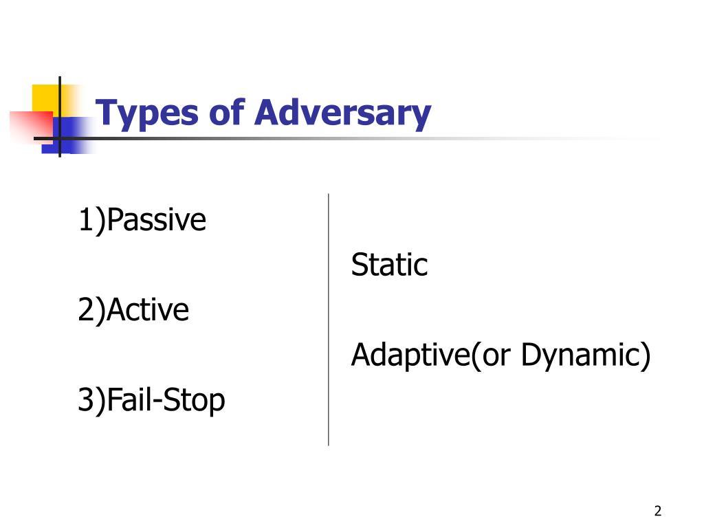 Types of Adversary