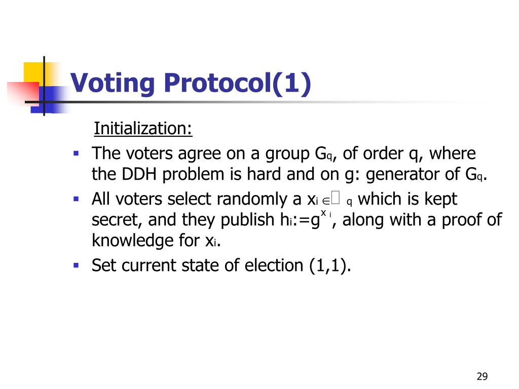 Voting Protocol(1)