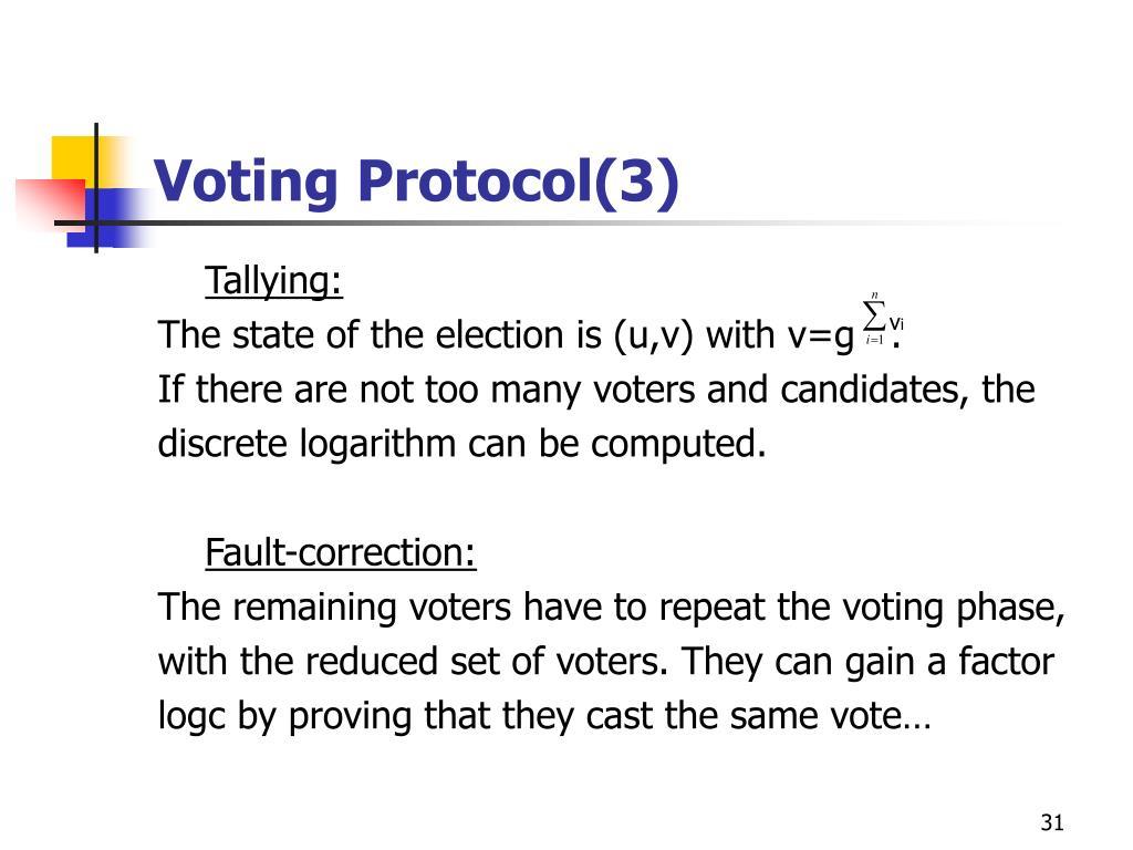 Voting Protocol(3)