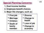 special planning concerns