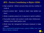 rpl factors contributing to higher grms
