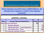 closing entries for expense accounts