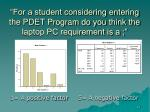for a student considering entering the pdet program do you think the laptop pc requirement is a
