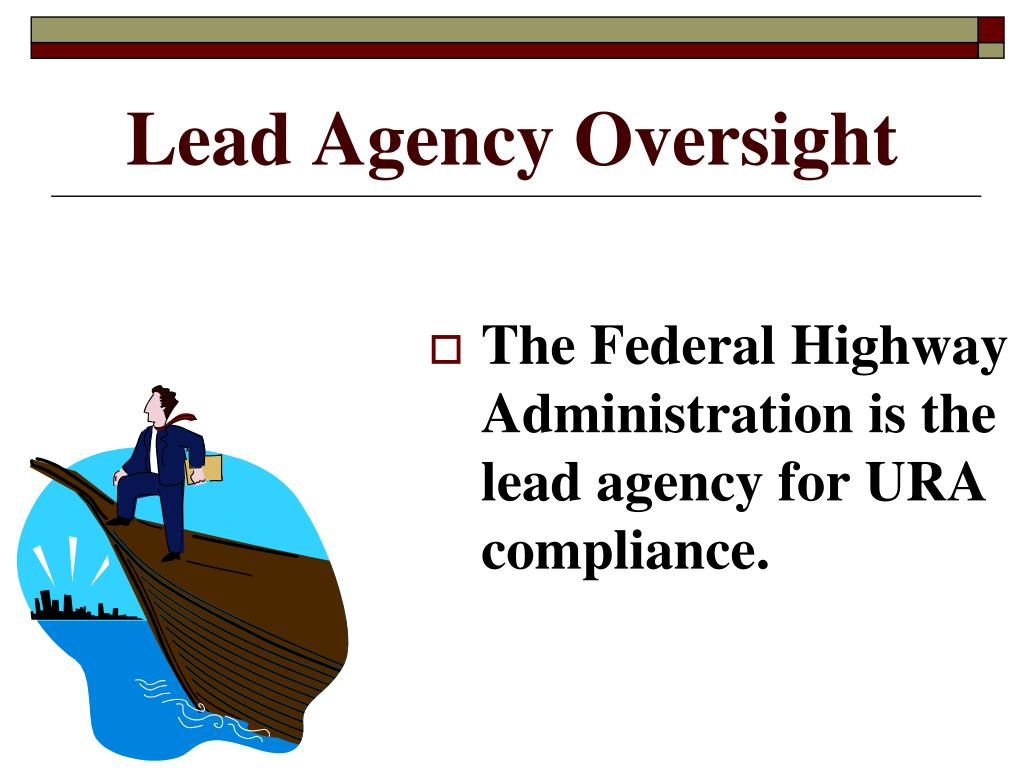 Lead Agency Oversight