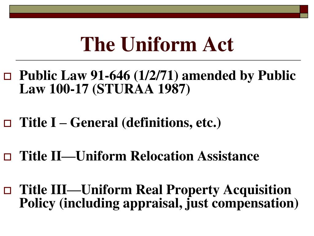 The Uniform Act