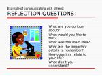 example of communicating with others reflection questions