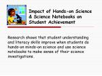 impact of hands on science science notebooks on student achievement