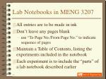 lab notebooks in meng 320713