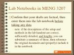lab notebooks in meng 320715