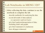 lab notebooks in meng 320717