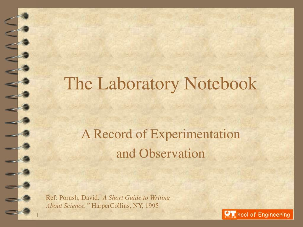 the laboratory notebook l.