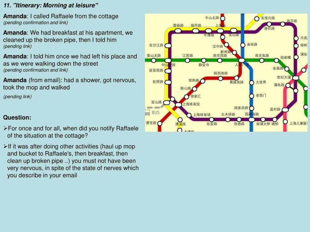 "11. ""Itinerary: Morning at leisure"""