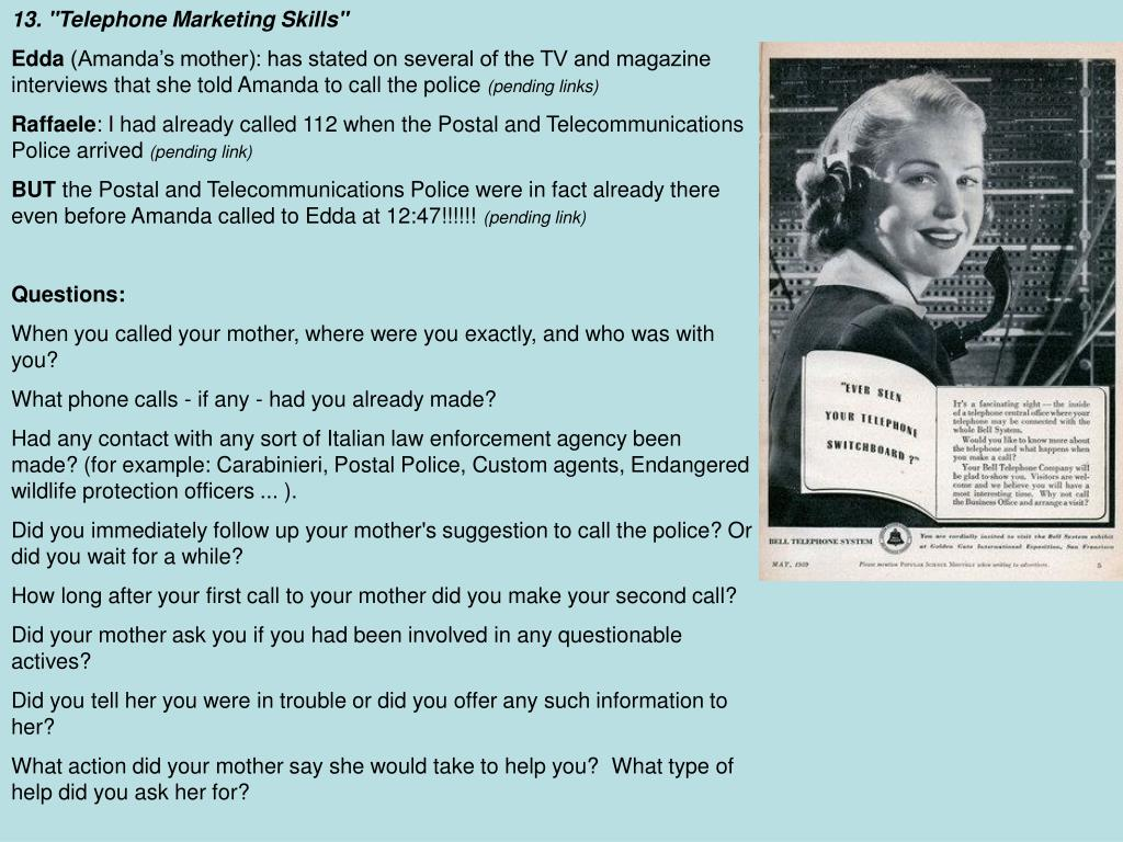 "13. ""Telephone Marketing Skills"""