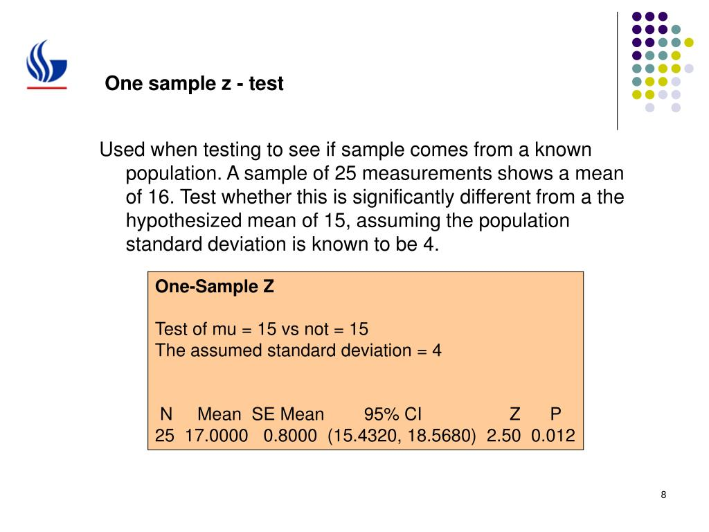 One sample z - test