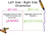 left side right side orientation