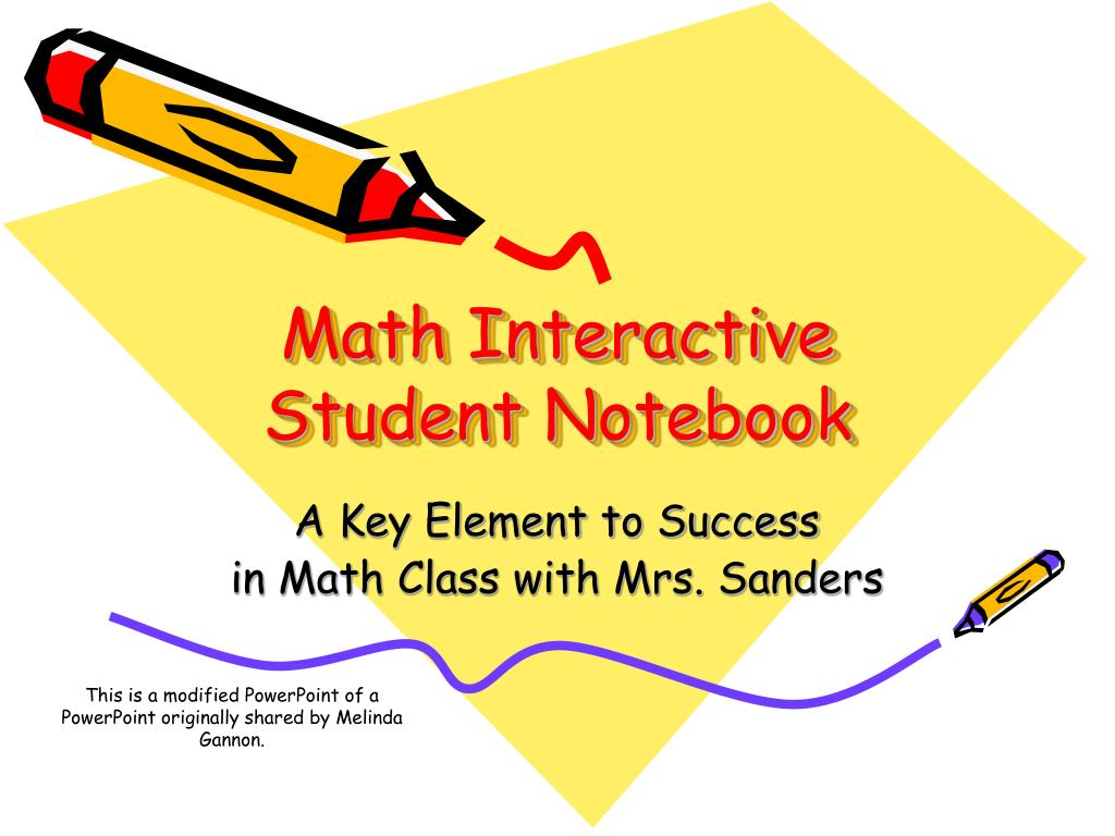 math interactive student notebook l.