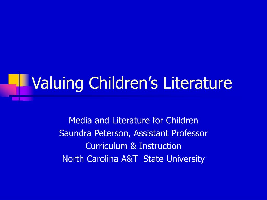 valuing children s literature l.