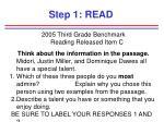 step 1 read