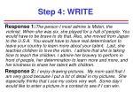 step 4 write