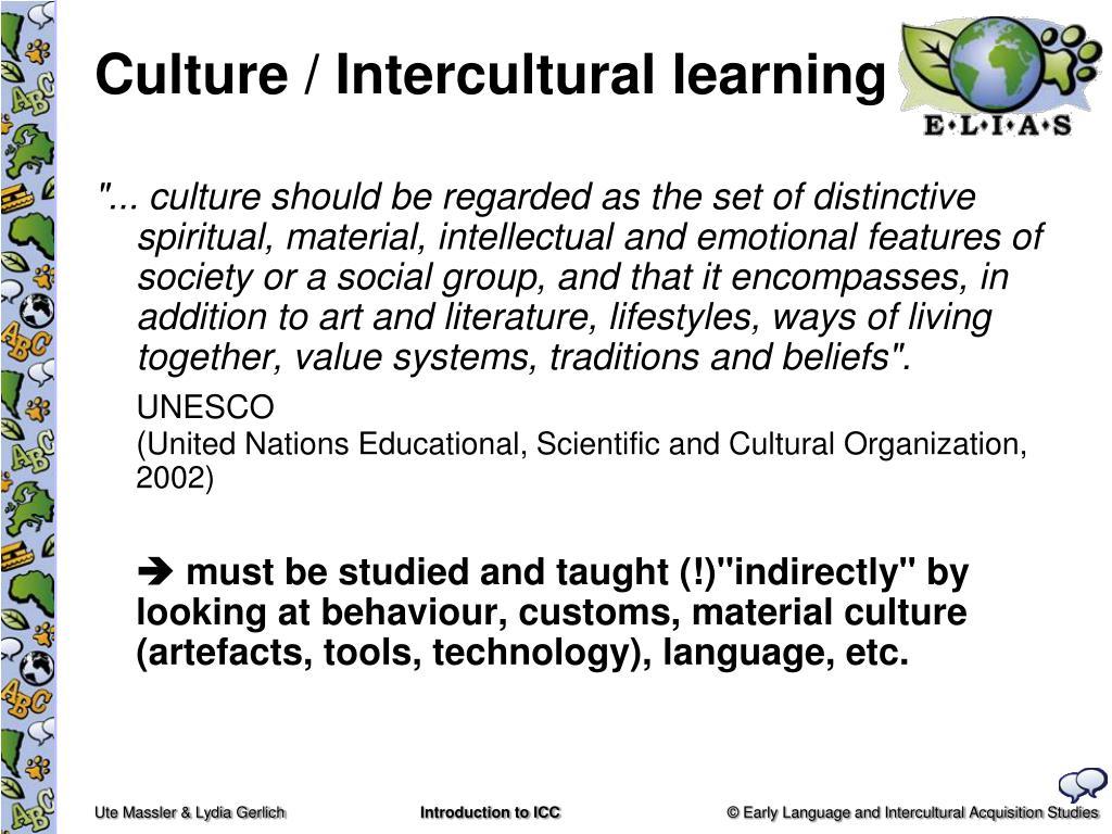 Culture / Intercultural learning