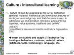culture intercultural learning