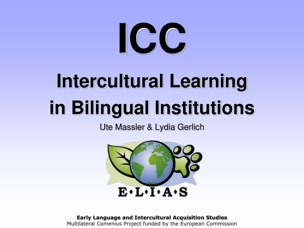 icc intercultural learning in bilingual institutions ute massler lydia gerlich l.