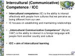 intercultural communicative competence icc