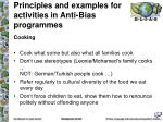 principles and examples for activities in anti bias programmes