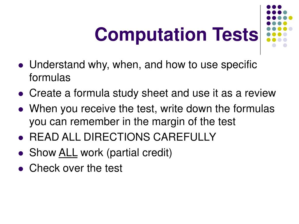 Computation Tests