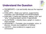 understand the question11