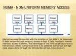 numa non uniform memory access17