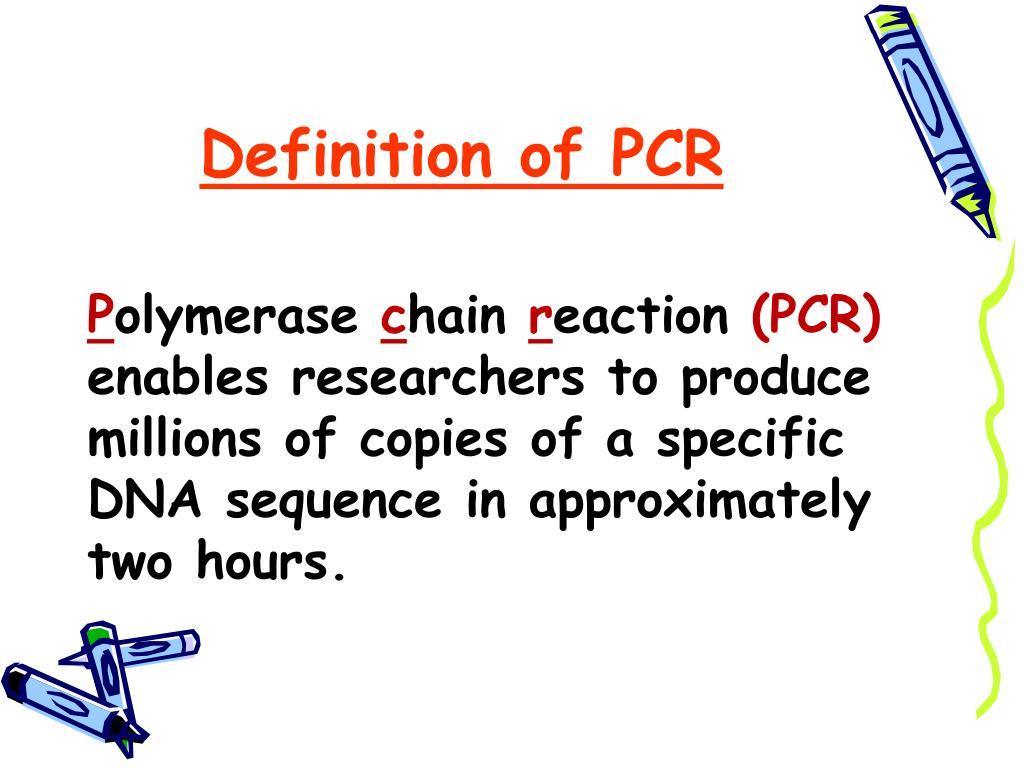 PPT - PCR PowerPoint Presentation - ID:507913