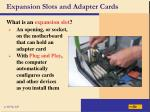 expansion slots and adapter cards37