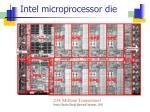 intel microprocessor die