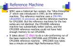 reference machine source standards performance evaluation corporation