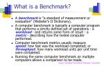 what is a benchmark