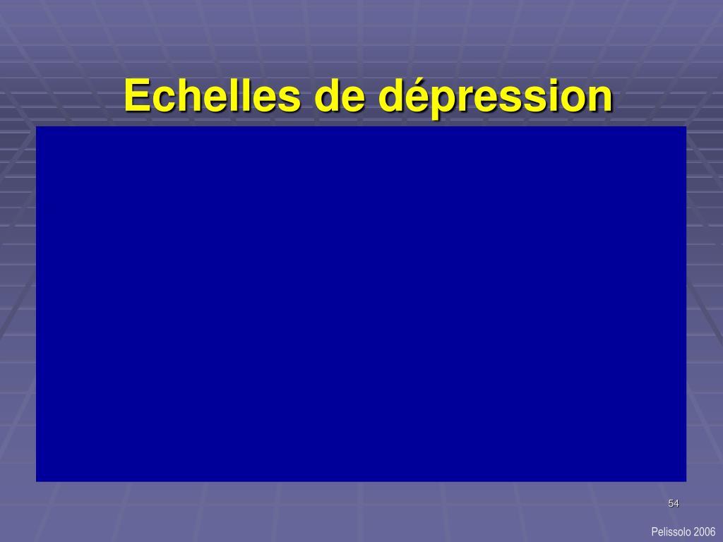 Echelles de dépression