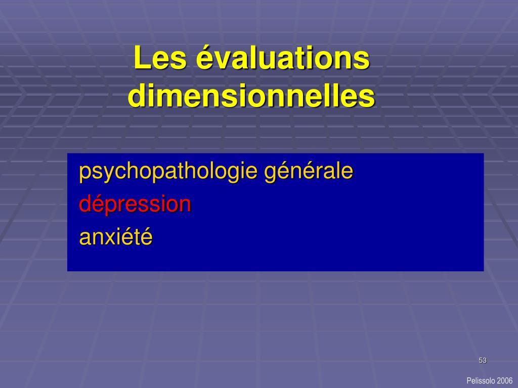 Les évaluations dimensionnelles