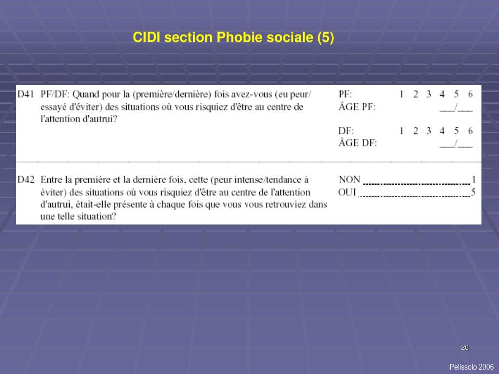 CIDI section Phobie sociale (5)