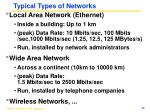 typical types of networks